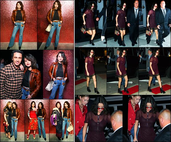 12.09.2017 ─ Selena Gomez était présente lors du défilé pour « Coach » pour la fashion week, étant, à New-York.La belle brunette S. a ensuite été photographiée, dans la nuit, dans les rues à New-York.. Concernant ses deux tenues, c'est deux beau tops de ma part !