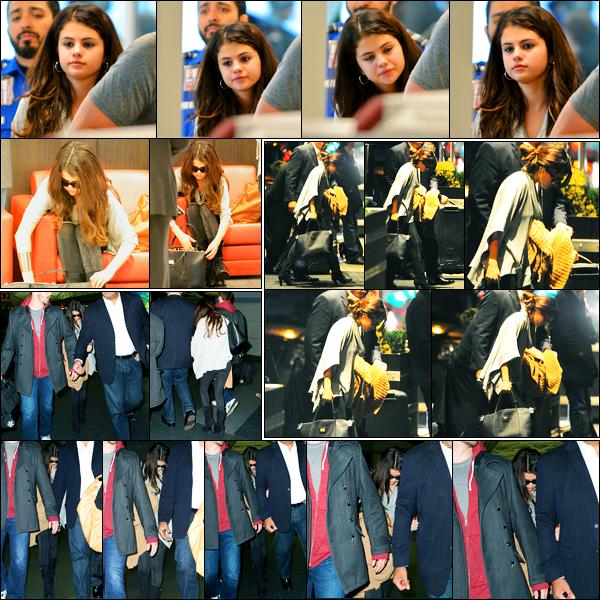 10.11.2012 ─ Selena Gomez a été photographiée alors qu'elle arrivait à l'aéroport de LAX, étant dans Los Angeles.Un peu plus tard, la belle a été photographiée arrivant à l'aéroport de JFK puis arrivant à son hôtel à New-York. Concernant sa tenue, c'est un beau top !