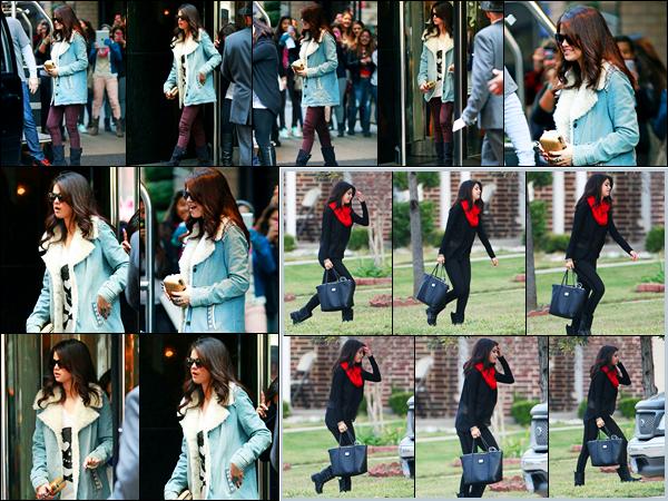 13.11.2012 ─ Selena Gomez a été photographiée pendant qu'elle quittait son hôtel se situant dans New-York City.La belle Selena G. a ensuite été photographiée alors qu'elle arrivait à son domicile à Dallas, accueilli par sa famille au Texas.. Sa tenue c'est un beau top !