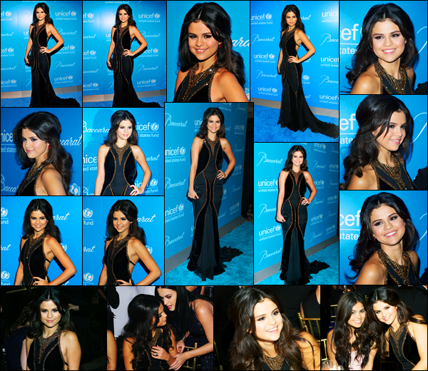 27.11.2012 ─ Selena Gomez était présente lors de la soirée « UNICEF Snowflake Ball », étant, dans New-York City.C'est tel une princesse que la belle Selena Gomez, a foulée le tapis, pour l'UNICEF, dont elle est l'ambassadrice... Sa tenue est un très beau top de moi !