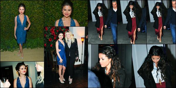 10.01.2013 ─ Selena Gomez était présente au défilé de «Alberta Ferretti and Vogue» étant dans Los Angeles, CA.Le lendemain, la belle a été photographiée alors qu'elle quittait le restaurant « BOA Steakhouse » où elle a dîner avec Vanessa Hudgens. C'est deux top !