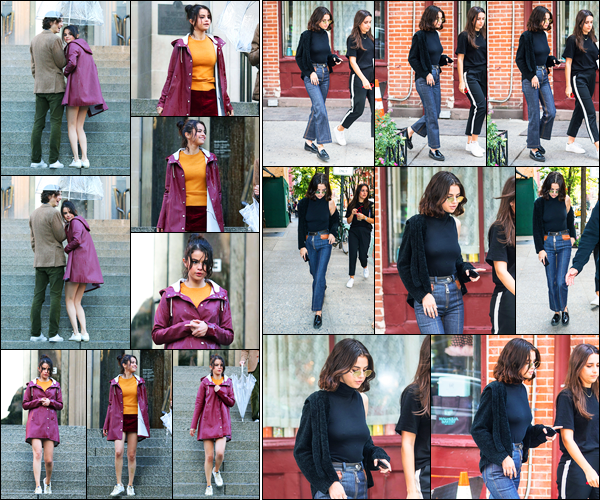 03.10.2017 ─ Selena Gomez a été photographiée, alors, qu'elle était sur le set de nouveau film étant à New-York.La belle a repris le tournage de son nouveau film ! Elle a ensuite été photographiée alors qu'elle se promenait dans les rues à NY. Sa tenue c'est un top !