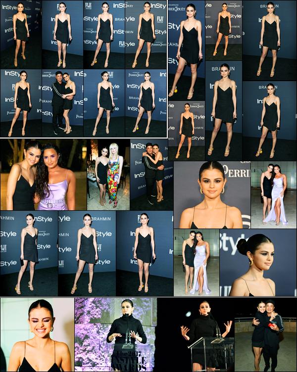 23.10.2017 ─ Selena Gomez était présente à la cérémonie annuel «InStyle Awards», au Getty Center, Los Angeles.Et surprise pour tout les fans de l'amitié Delena, puisque elles ont enfin posée ensemble ! Alors content ? Concernant la tenue, c'est un gros top  pour moi