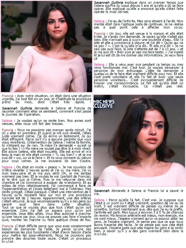 Découvrez l'interview pour « TODAY Show » de Selena G. et Francia Raisa !