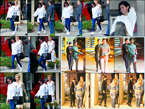 03.01.2018 ─ Selena Gomez a été photographiée alors qu'elle quittait son cours de Hot Pilates à West Hollywood.La belle brunette était en compagnie de son petit-ami lors de son cours. Puis le soir, elle a été photographiée quittant une église. Ses tenue sont des bof.