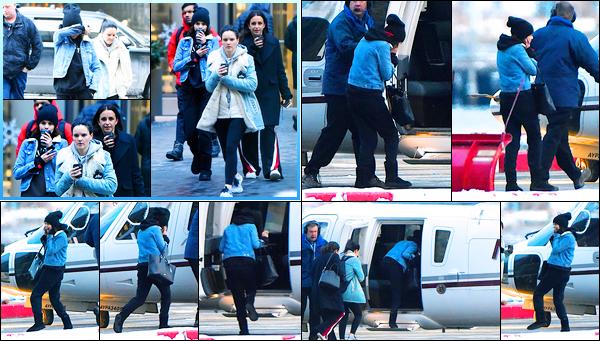 07.01.2018 ─ Selena Gomez a été photographiée, alors, qu'elle se dirigeait vers un hélicoptère étant à New-York.Dans la journée, la belle a été photographiée alors qu'elle était dans les rues de New-York. Concernant sa tenue, je ne suis pas très fan mais c'est un top.