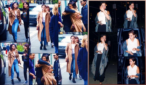 -06/05/2018- ─ Selena Gomez a été photographiée alors qu'elle allait déjeuner avec des amis, étant dans New-York City !La belle a été vue en compagnie de Paul Rudd et Justin Theroux ! Plus tard, la belle a été photographiée arrivant à Midtown spa... Ses tenues sont tops !
