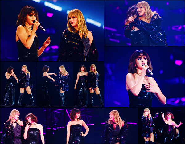 -19/05/2018- ─ Selena Gomez était présente lors du « Reputation Stadium Tour », de Taylor Swift, étant, dans Pasadena !Selena Gomez a performer, comme à chaque tournée de la chanteuse, et elles ont performer ensemble sur « Hands to myself ». Gros top pour ma part !