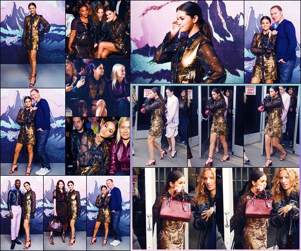 -11/09/2018- ─ Selena Gomez était présente lors du défilé pour « Coach 1941 » lors de la Fashion Week, dans New-York !C'est dans la salle de réception « Pier 94 » que le défilé a eu lieu... Concernant la tenue de notre magnifique Selena, c'est un très jolie top pour ma part !