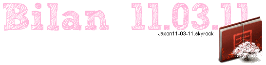 Le Bilan du 11.03.11