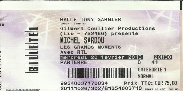 Halle Tony Garnier Lyon 20 février 2013