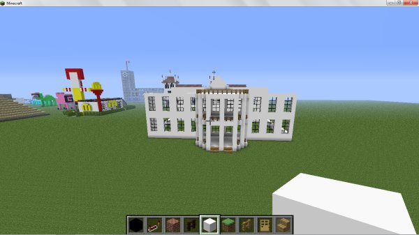 Maison blanche en construction minecraft for Construction de maison sur minecraft