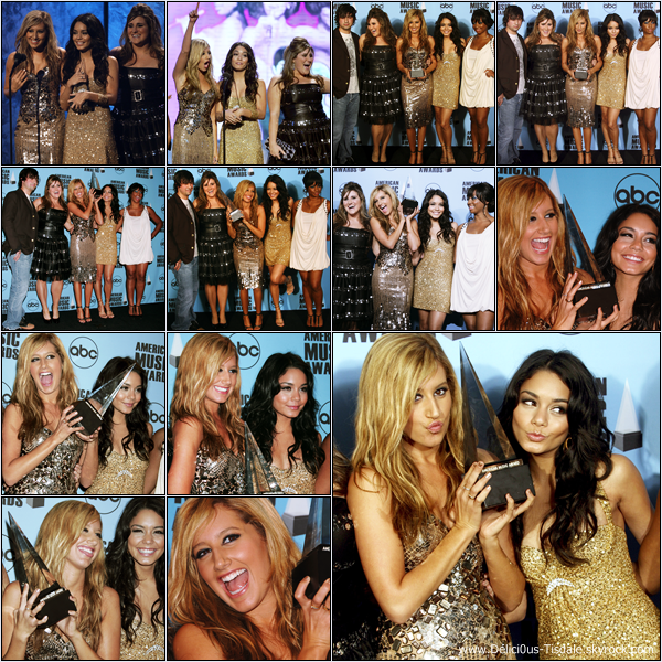 -   18/11/2007 : Ashley et le cast d'High School Musical 2 aux American Music Awards à Los Angeles.   -