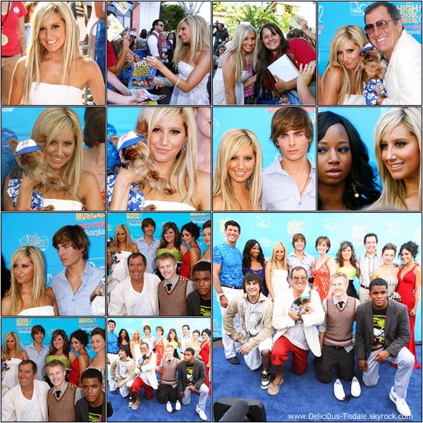 -   14/08/2007: Ashley à la première de son nouveau film High School Musical 2 à Los Angeles.   -