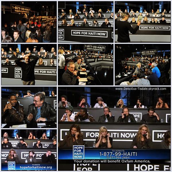 Ashley à l'évènement Hope For Haiti Now: A Global Benefit For Earthquake Relief telethon organisé par l'acteur Georges Clooney à Los Angeles ce Vendredi 22 Janvier.