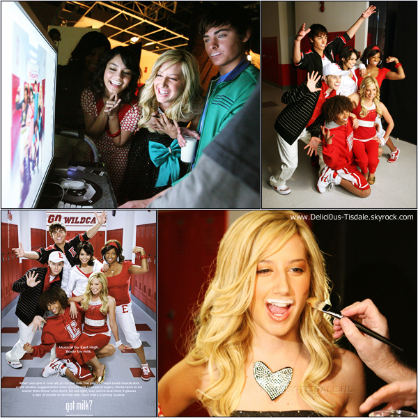 -   Photoshoot 2007: Découvrez un photoshoot d'Ashley et de ses co-stars d'High School Musical pour la marque Got Milk?.   -