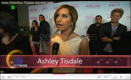 Ashley à la première de son film Sharpay's Fabulous Adventures à Los Angeles ce Mercredi 06 Avril.