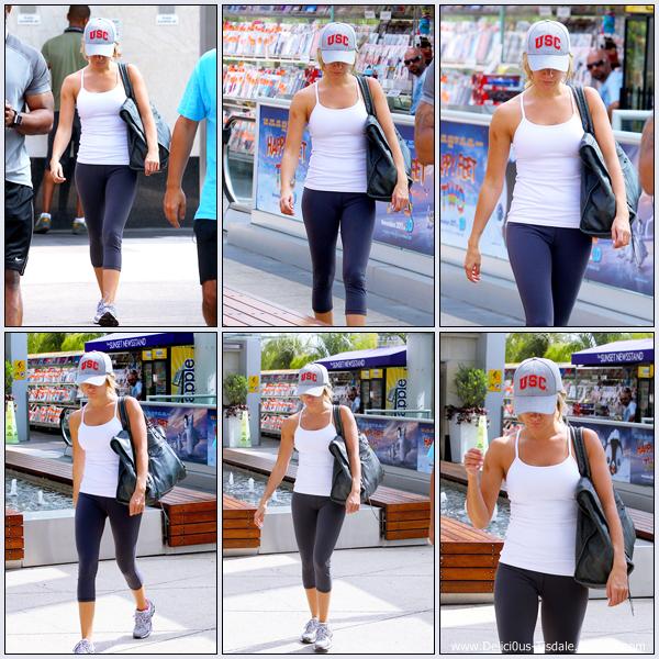 Ashley se rendant à la salle de gym Equinox dans West Hollywood ce Vendredi 23 Septembre.