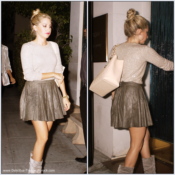 Ashley arrivant au restaurant Mastro's Steakhouse à Beverly Hills ce Mercredi 28 Septembre.