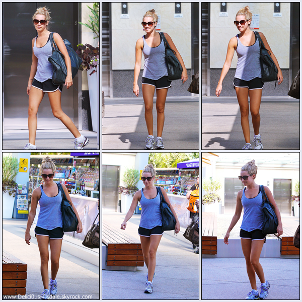 Ashley arrivant à la salle de gym Equinox ce Jeudi 29 Septembre dans West Wollywood.