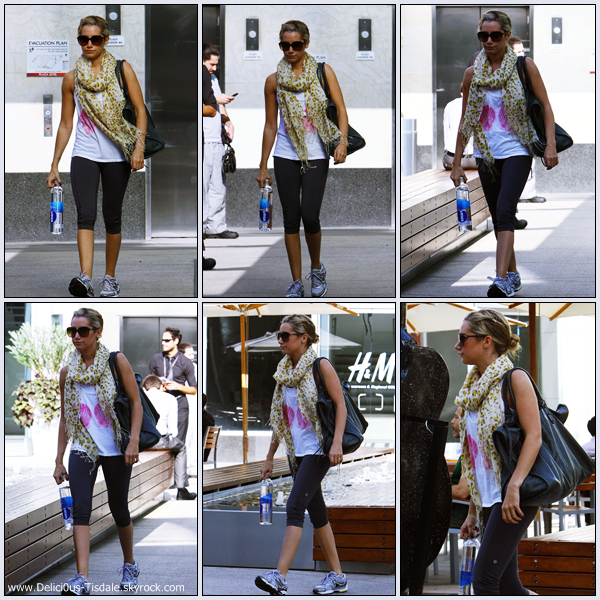 Ashley se rendant à la salle de gym Equinox dans West Hollywood ce Lundi 10 Octobre.