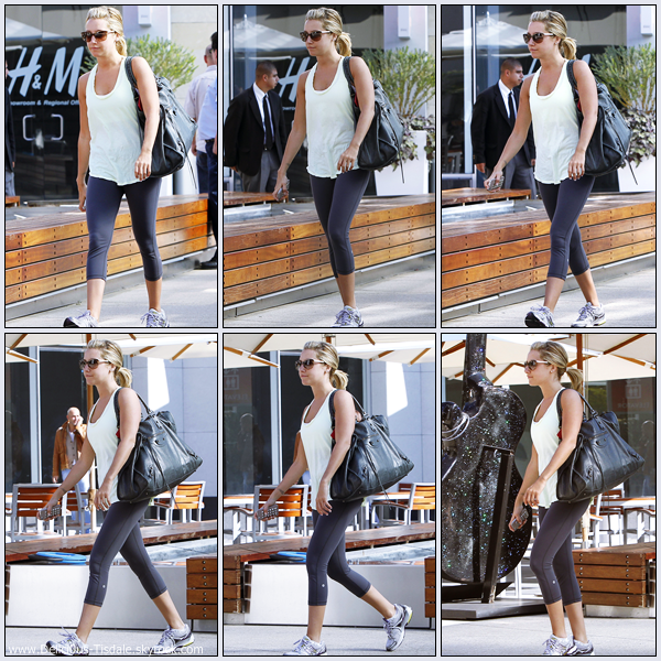 Ashley se rendant à la salle de gym Equinox dans West Hollywood ce Jeudi 27 Octobre.