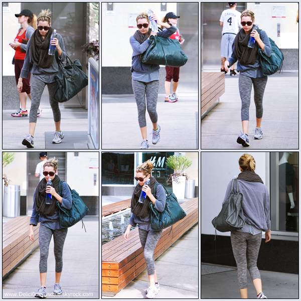 Ashley arrivant à la salle de gym Equinox dans West Hollywood ce Lundi 28 Novembre.