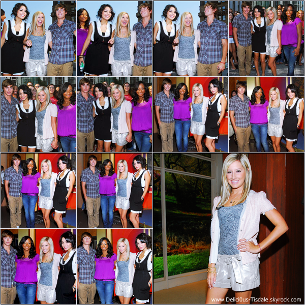 -   03/08/2007: Ashley et ses co-stars d'High School Musical sur le plateau de l'émission The Early Show à New-York.   -