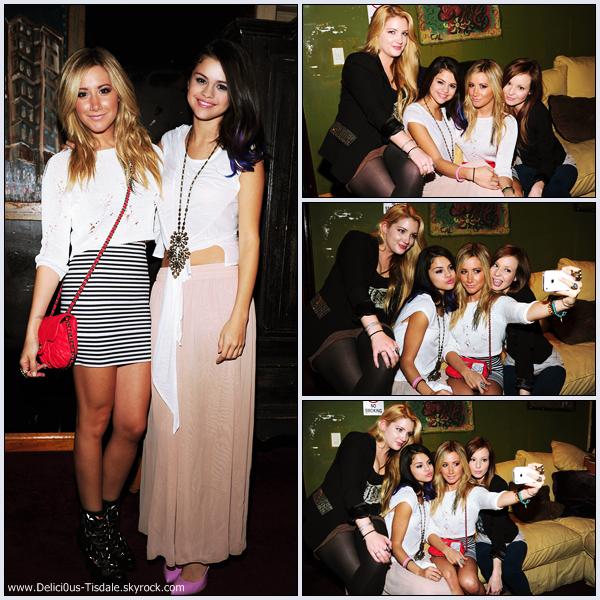 Ashley arrivant à un concert pour l'UNICEF en compagnie de Samantha Droke et Shelley Buckner à Los Angeles ce Vendredi 20 Janvier.
