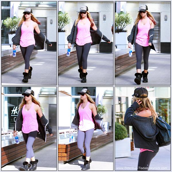 Ashley se rendant à la salle de gym Equinox dans West Hollywood ce Mercredi 08 Février.