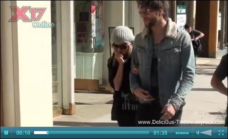 Ashley se promenant avec son petit-ami Martin dans les rues de Beverly Hills ce Jeudi 23 Février.