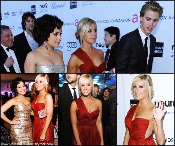 Ashley au 20th Annual EJAF Academy Awards Viewing Party avec son petit-ami Martin à Los Angeles ce Dimanche 26 Février.