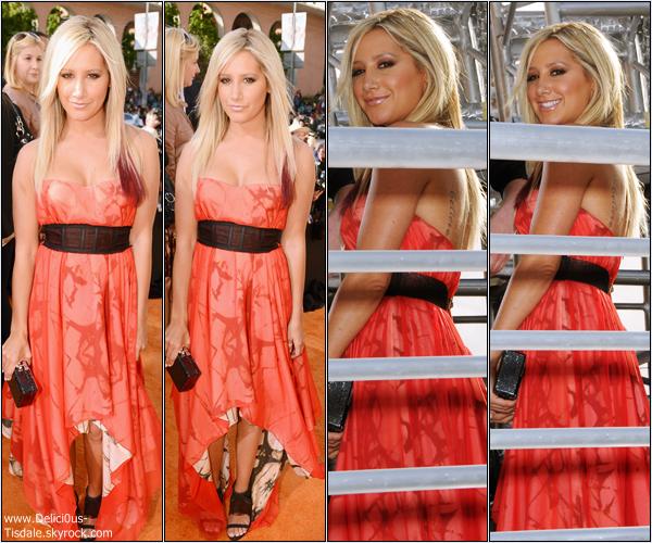 Ashley à la 25ème cérémonie des Kids Choice Awards qui se déroulait à Los Angeles ce Samedi 31 Mars.
