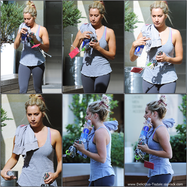 Ashley se rendant à la salle de gym Equinox dans West Hollywood ce Mercredi 04 Avril.
