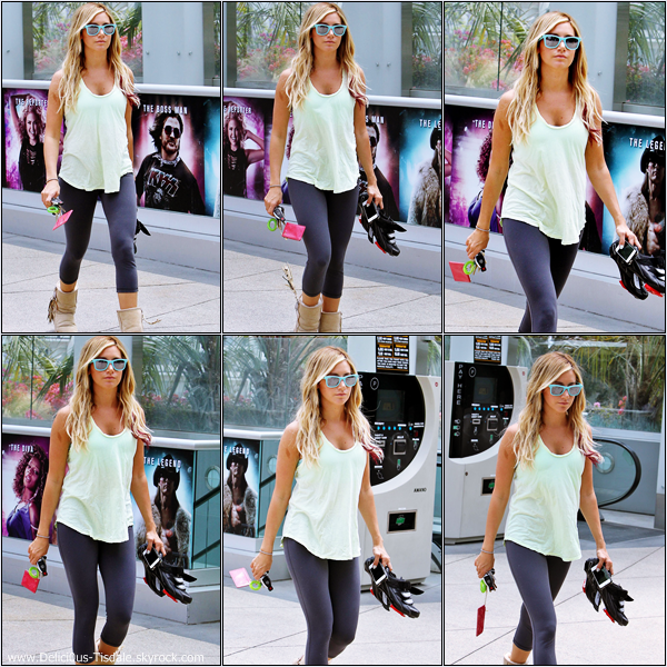 Ashley se rendant à la salle de gym Equinox dans West Hollywood ce Jeudi 24 Mai.