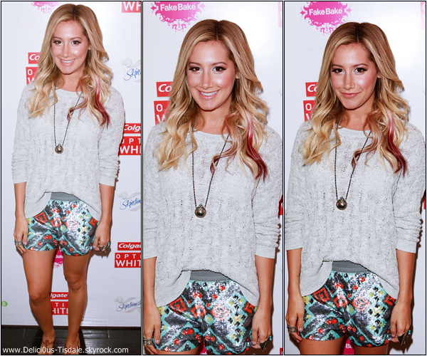 Ashley à l'évènement Colgate Optic White MTV Beauty Bar à Los Angeles ce Vendredi 1er Juin.