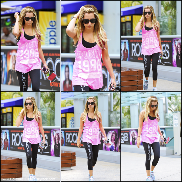 Ashley arrivant à la salle de gym Equinox dans West Hollywood ce Vendredi 15 Juin.