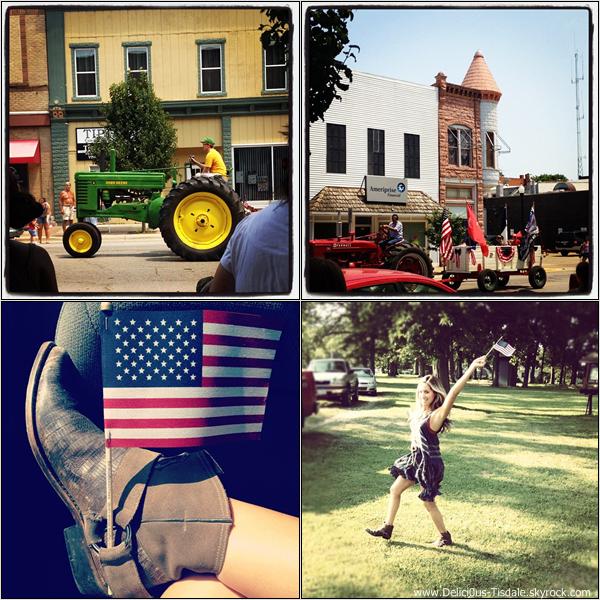 Ashley célébrant l'indépendance des Etats-Unis à Iowa ce Mercredi 04 Juillet.