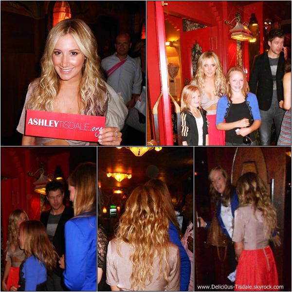 Ashley arrivant à la première de Step Up 4 dont son petit-ami est le réalisateur, à Amsterdam ce Samedi 07 Juillet.