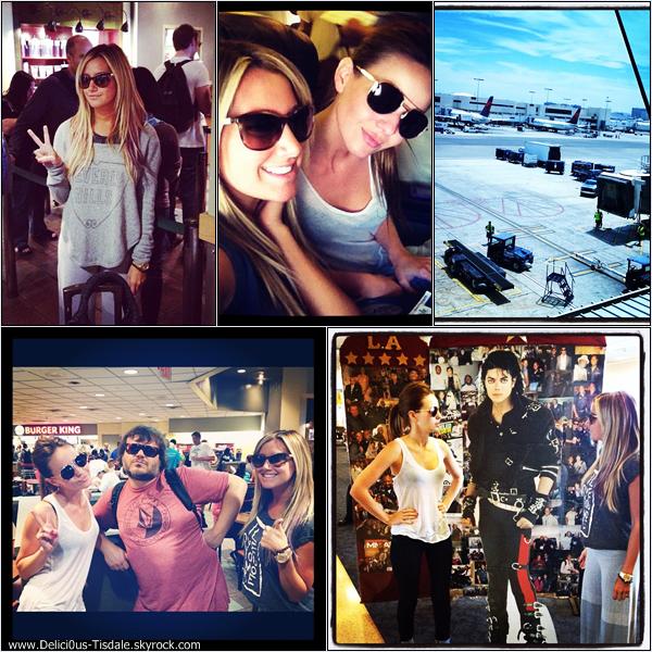 Ashley arrivant à l'aéroport JFK de New-York ce Mercredi 18 Juillet.