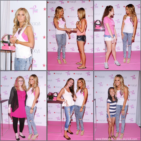 "Ashley au lancement du Macy's and Puma ""Project Pink"" à New-York ce Jeudi 19 Juillet."