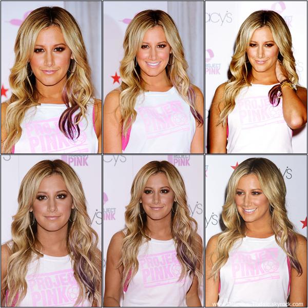 """Ashley au lancement du Macy's and Puma """"Project Pink"""" à New-York ce Jeudi 19 Juillet."""