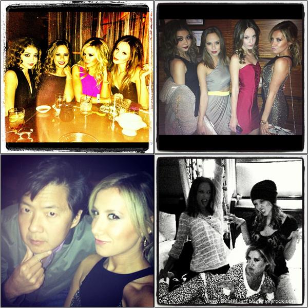 -   09/11/2012: Ashley célébrant le 25ème anniversaire de son amie Samantha Droke au restaurant Tao Asian Bistro à Las Vegas.   -