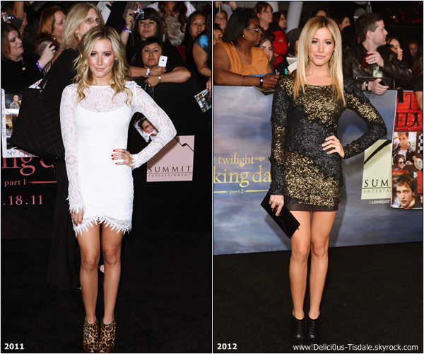 -   12/11/2012: Ashley à la première mondiale du film The Twilight Saga: Breaking Dawn – Part 2 à Los Angeles.   -