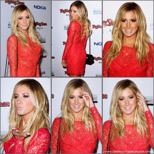 -   18/11/2012: Ashley à l'after-party des American Music Awards à Los Angeles.   -