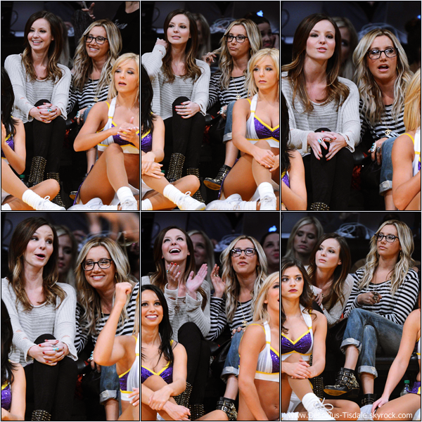 -   02/12/2012: Ashley et Samantha Droke assistant au match de basket Los Angeles Lakers vs Orlando Magic au Staples Center de Los Angeles.   -