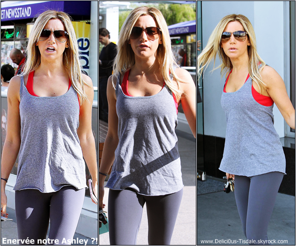 -   07/12/2012: Ashley se rendant à la salle de gym Equinox dans West Hollywood.   -