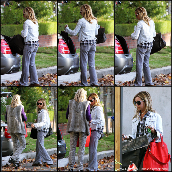 -   18/12/2012: Ashley quittant le Urth Cafe avant d'aller faire du shopping avec sa maman Lisa et sa nièce Mikayla dans West Hollywood.   -