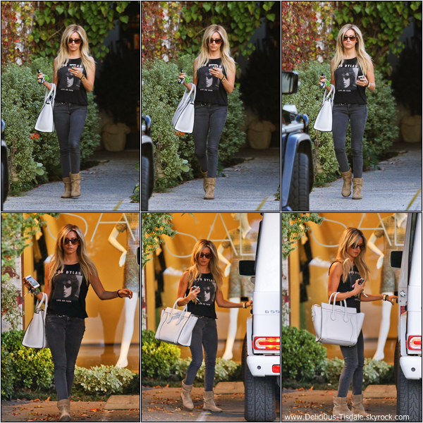 -   07/01/2013: Ashley quittant le salon de coiffure Andy Lecompte dans West Hollywood.   -