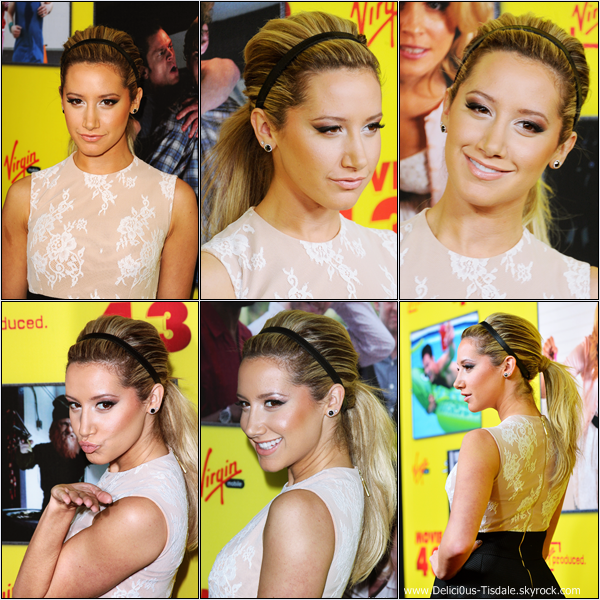 -   23/01/2013: Ashley à la première du film Movie 43 qui se déroulait à Los Angeles.   -